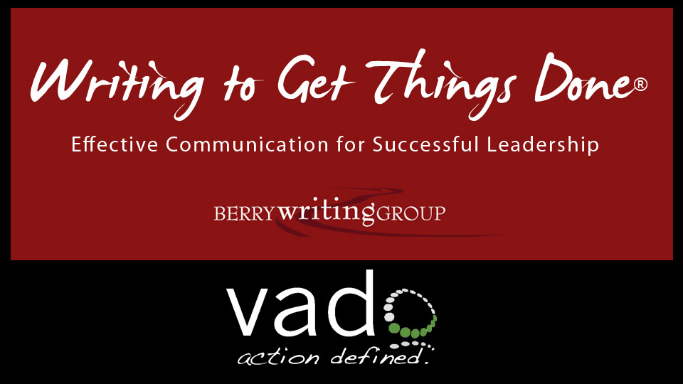 Improve with the Writing to Get Things Done® Toolkit