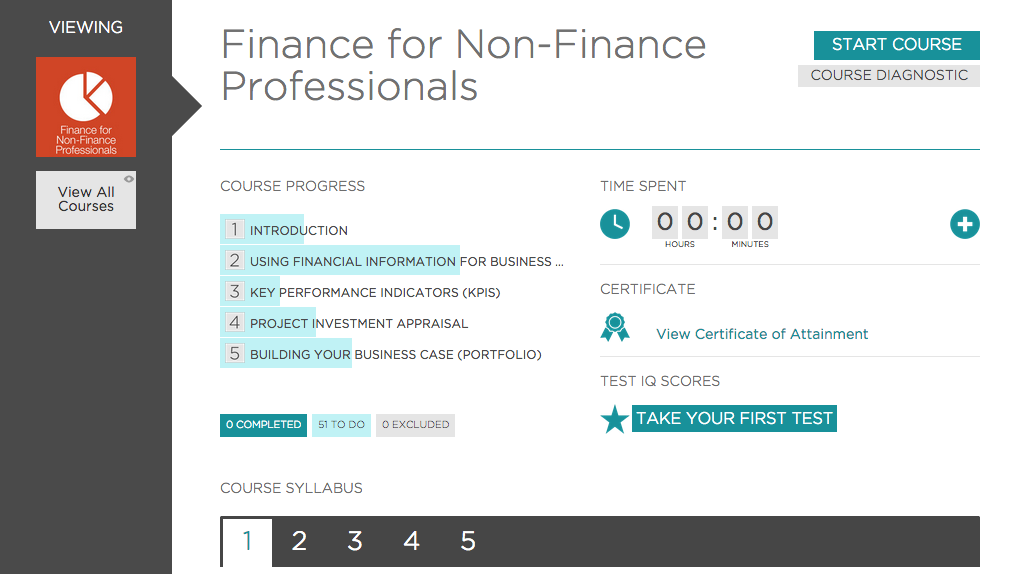 An Essential Online Course: Understanding Finance for Non-Finance Professionals, Singapore SKillsFuture elarning online course